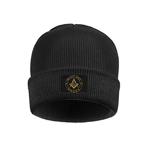 Flames Wolf Prince-Hall-Masonic Fine Knit Beanies Hat Slouchy Skull Cap for Men Women