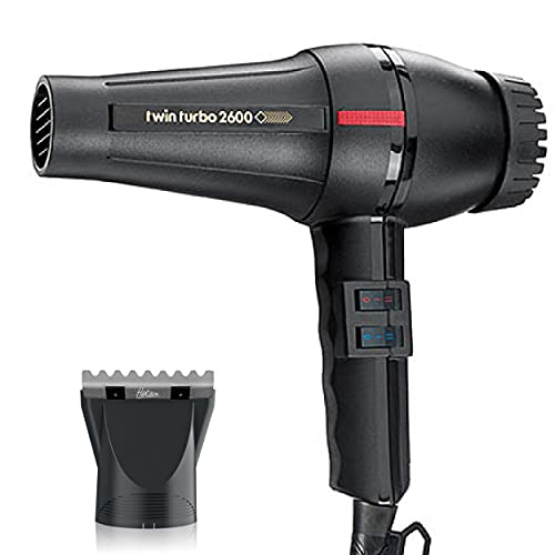 Turbo Power Twin Turbo 2600 Black Hair Dryer Model 304A and M Hair...