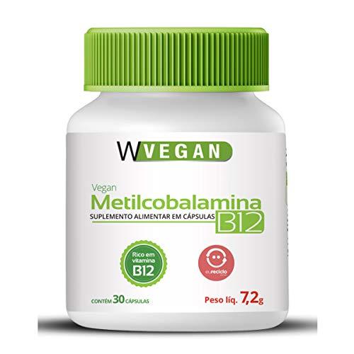 Vitamina B12 9,94mcg 30 capsulas WVegan Metilcobalamina Vegan