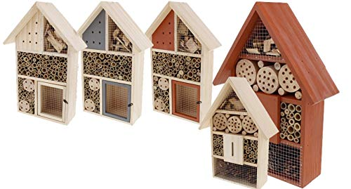 Riyashop Insektenhotel Brutkasten Nistkasten Insektenhaus Vogel Insekten Garten B Groß