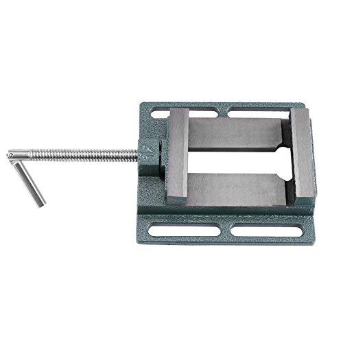 Tornillo de banco mecánico de 4', hierro fundido (cuerpo) + acero 45# (mordaza) Tornillo de prensa de taladro de 4', utilizado en fresadoras, taladradoras y mantenimiento de maquinaria