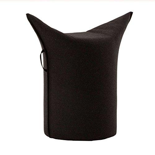 Werther – Die Möbelmanufaktur Zipfel Hocker 62 x 36 cm, h 60 cm - schwarz