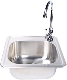 Fire Magic Stainless Steel 15x15 Sink With Faucet
