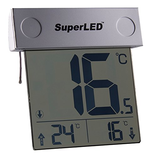 SuperLED Solar-Fenster-Thermometer