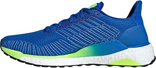adidas Solarboost 19, Zapatillas de Carretera Hombre, Azul Gloria/Calzado Blanco/Verde Señal, 45...