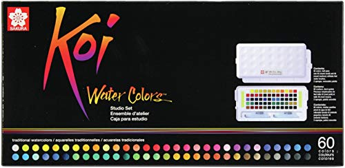 Sakura Studio Set Koi Watercolor Kit, 60', Assorted