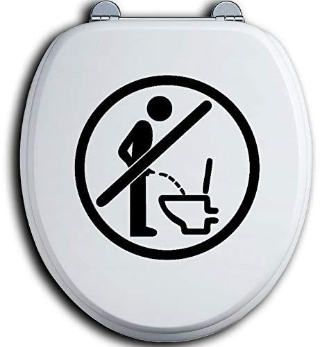 HR-WERBEDESIGN Im Sitzen pinkeln WC Deckel Toilettendeckel Bad Klo Aufkleber Sticker urinieren
