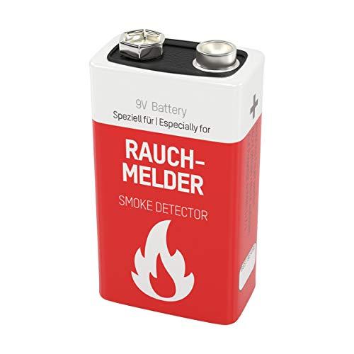 ANSMANN Lithium longlife Rauchmelder 9V Block Batterien - Premium Qualität für höhere Leistung,...
