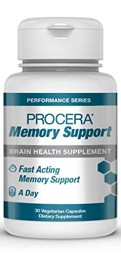 Procera Memory Support - Patented & Clinically Studied Panax Ginseng + Ginkgo Biloba Supplement | Supports Increased Blood Flow | Energy & Performance Enhancer | Fast-Acting | Veggie Capsules (1Pack)