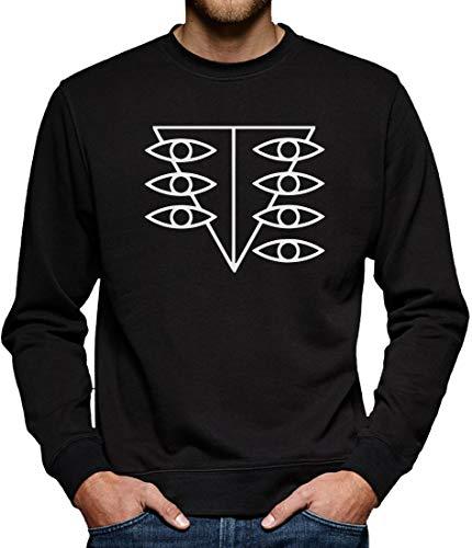 Neon Genesis Evangelion Seele Stilizzato Sweatshirt Pullover Herren L Schwarz