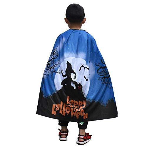 ZHANGYY Halloween Kinder Umhang Horror Print Fledermaus Kürbis Schal Umhang Make-up Performance Kostüm, Werwolf, eine Größe