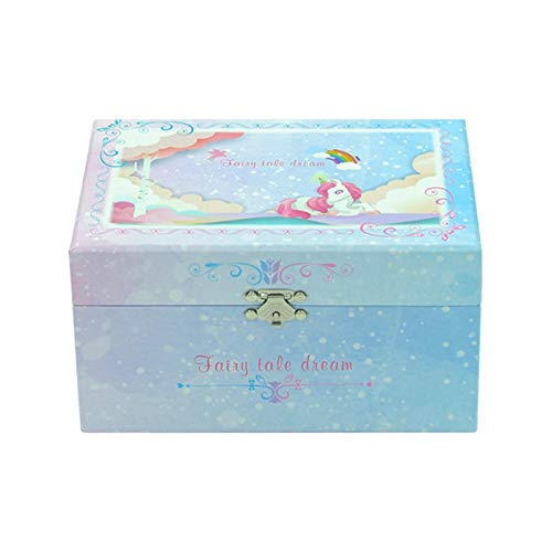 Cajas Musicales Caja de música unicornio caja de música caja caja de joyería caja de regalo caja de embalaje caja de cumpleaños regalo de cumpleaños de gama alta de gama de cumpleaños regalo de Navida