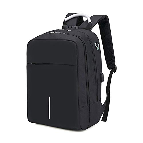 Yuzhijie Men's bag business backpack anti theft Bag Backpack, Black