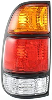 Tail Light Compatible with Toyota Tundra 00-06 Assembly Amber/Clear/Red Lens W/Standard Bed Regular and Access Cab Left Side