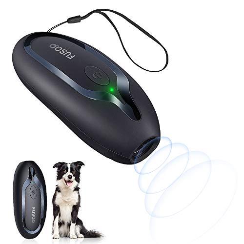 Fusoo Anti-Bell-Mittel für Hunde, Handheld-Anti-Bell-Gerät Hundegebell-Steuerung Anti-Bell-Hunde Abschreckungsmittel 16.4FT mit LED-Anzeige Anti-Bell-Stopper 16.4FT Stopp-Halsbänder für das Bellen