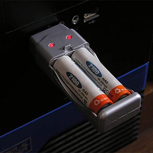 Batería recargable NiMH AA AAA Cargador USB de alta capacidad AAA/AA*2=160mA USB DC5V Entrada USB/fuente de alimentación