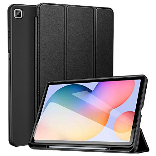 ZtotopCase Galaxy Tab S6 Lite 10.4 ' Case with Pen Holder, Auto Wake/Sleep, Slim PU Lightweight Trifold Stand Folio Cover for 2020 Samsung Galaxy S6 Lite Tablet Model SM-P610/P615 - Black