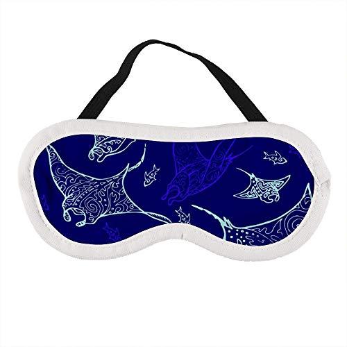 Draagbaar oogmasker voor mannen en vrouwen, Manta Ray en vis Het beste slaapmasker voor reizen, dutje, geven u de beste slaapomgeving