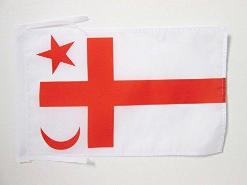AZ FLAG Drapeau Micmacs du Québec 45x30cm - PAVILLON amérindien 30 x 45 cm Haute qualité