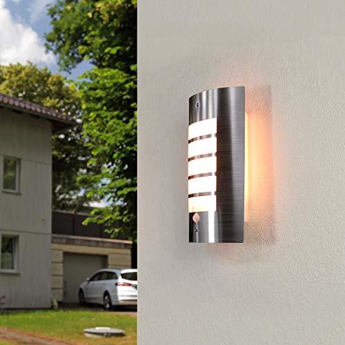 Moderne Wandlampe mit Bewegungsmelder IP44 Edelstahl Hauseingang Lampe Außen Haustür Terrasse