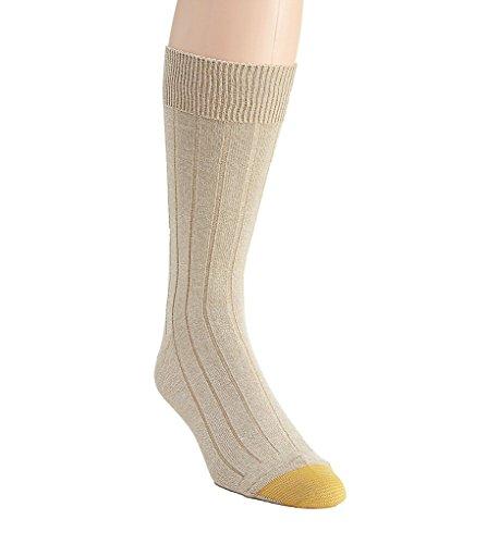 Gold Toe Men's Ultra Soft Rib Crew Sock 2735S 10-13 Tan