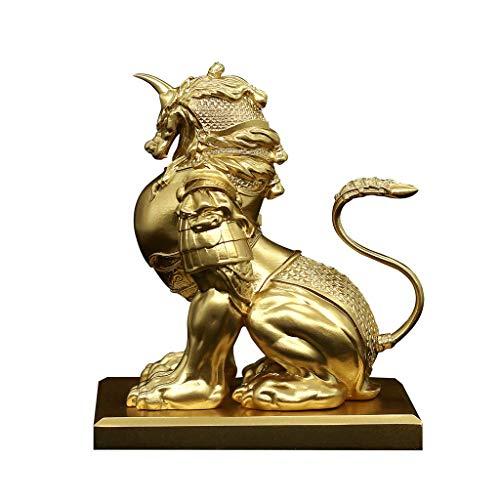 ZHTY Feng Shui Riqueza Prosperidad FRP Estatua del General Pi Xiu/Pi Yao, atraer Riqueza y Buena Suerte La Mejor decoración para la Oficina o el hogar