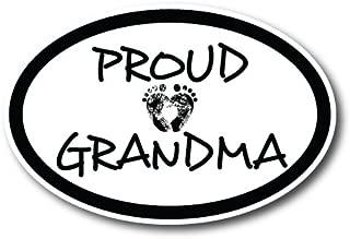 Proud Grandma 4x6 Oval Car Magnet Decal Heavy Duty Waterproof