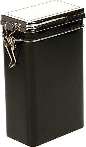 kleine Dose mit Aroma-Bügel-Verschluss, schwarz