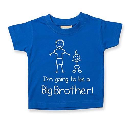 I'm Going To Be a Big Brother BLU MAGLIETTA BAMBINI PICCOLI disponibile nelle taglie da 0-6 Mesi Nuovo da bambino fratello REGALO - Blu, 3-4 Years