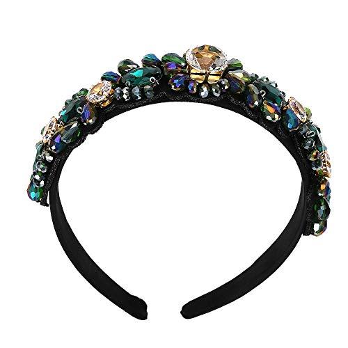 Qinlee Haarreifen in Kristall Quarz Tiara Meerjungfrau Krone Stirnband Haarband mit Strass für Damen Headband Frauen Haarschmuck Haarreif für Braut Hochzeit-Stil-4