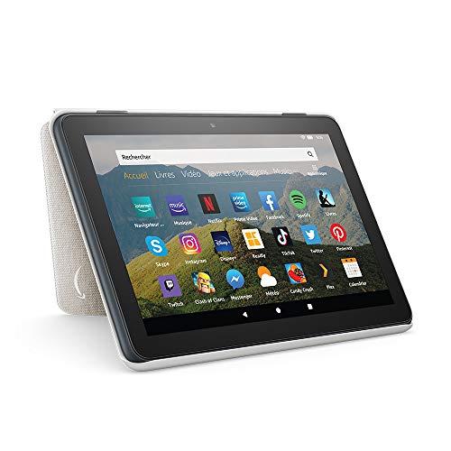 Étui pour tablette Amazon Fire HD 8 (compatible avec les appareils de 10ème génération, modèle 2020), Blanc