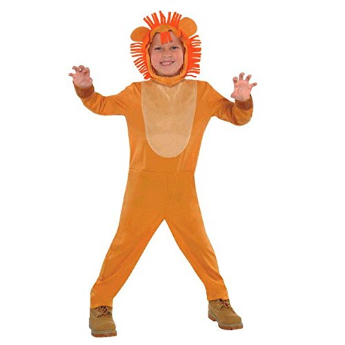 Wild Jungle Animals Themed Party Lion Costume Wearables, Fabric, Small, Pack of 2