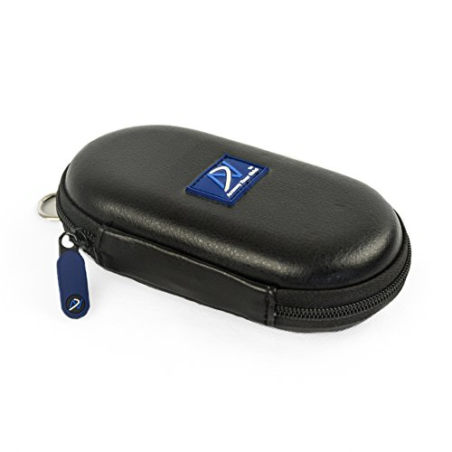 DNPRO-ANC Carrying case Compatible with Bose QuietComfort 20 (QC20/QC20i), Bose SoundSport in-Ear, Bose SoundSport Wireless, B&O H3 ANC, Sennheiser CX700 and Many Other Earphones (PU Leather Black)