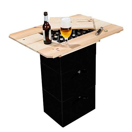 Benelando® Holzaufsatz Bierkästen Deckel Gartentisch Stehtisch Bierkasten Biertisch Bier (1)