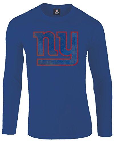 Majestic NFL New York NY Giants Langarm Longsleeve Shirt Football Hyper Domestic (L)