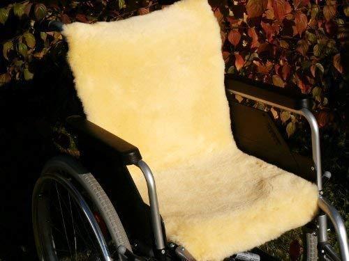 Förster-Fellnest Rollstuhlauflage aus echtem Lammfell - Dichte und stabile Ware für hohe Atmungsaktivität und Druckentlastung 40x85 cm
