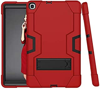 Cantis Galaxy Tab A 10.1 2019 Case(SM-T510/T515),Slim Heavy Duty Shockproof Rugged Case High Impact Full Body Protective Case for Samsung Galaxy Tab A 10.1 2019 Release (red+Black)