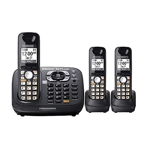 Teléfono inalámbrico Digital DECT Home Desk: Llamada Entre Tres, Bloqueador de Llamadas molestas, Manos Libres con Altavoz, se Puede expandir 6 Auriculares (Color: C)
