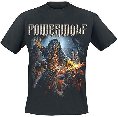 Powerwolf Incense and Iron Männer T-Shirt schwarz S 100% Baumwolle Band-Merch, Bands