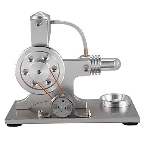 Stirling Generator Motor Modell, DIY Miniatur Stirling Verbrennungsmotor mit LED-Leuchten, Sportunterricht Spielzeug Geschenk für die Schule, Bildung197