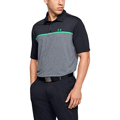 Under Armour Polo de Golf Playoff 2.0 para Hombre, Hombre, Polo, 1327037, Negro (017)/Vapor Green, XL