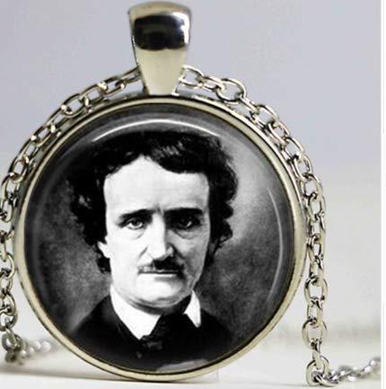Medallion,Amulett E A Poe Edelstahl 3 cm mit Kette