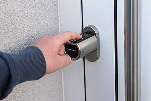 SOREX FLEX - Türschloss biometrisch mit deutschem Support! Türöffner mit Fingerabdruck und RFID Zylinder inkl. Batterien | Keine Schlüssel nötig | Keyless Smart Lock | elektronisches Schloss - 2