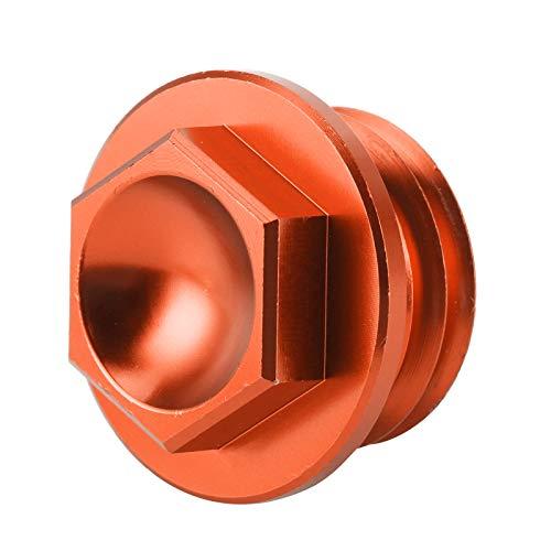 HAOX Tapón de llenado de Aceite, Tapa Duradera del Tanque de Aceite 6061 T6 de Aluminio de Repuesto Ligero para Husaberg TE 125‑300 2011‑2014 para Husqvarna TC 85 2014‑2015(Orange)