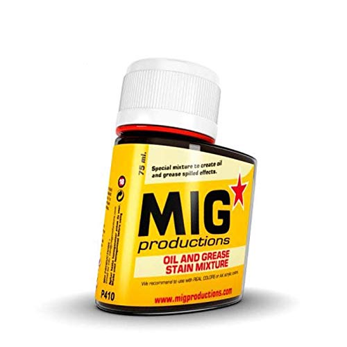 MIG Oil and Grease Stain Mixture 75ml - Plastic Model Building Paints and Accessories # P410