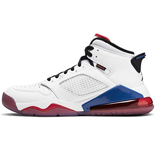Nike Herren Jordan Mars 270 Basketballschuh, White/Black-University red-Rush Blue, 41 EU