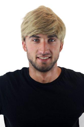 WIG ME UP - Parrucca da uomo Corta Giovanile Disinvolto all Moda Biondo Alta Nuova GFW1168-24