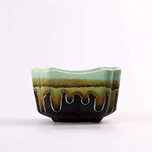 Giow Macetas rústicas macetas de cerámica Hechas a Mano Tetera