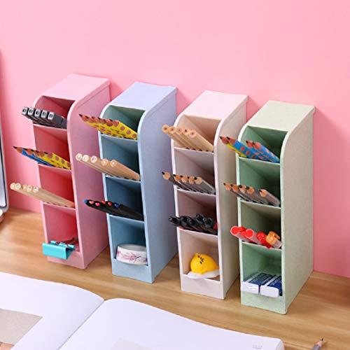 Stift Organizer Lagerung 4Pcs Schreibtisch Stifthalter für Office School Home Makeup Briefpapier Marker Stift Bleistift Pinsel für Kinder Teenager Mädchen Erwachsene (4 Stück)