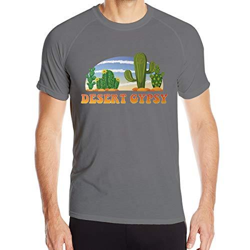 Desert Gypsy Camiseta deportiva de manga corta para hombre de cuello redondo de secado rápido